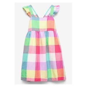 Gap Flutter Plaid Dress